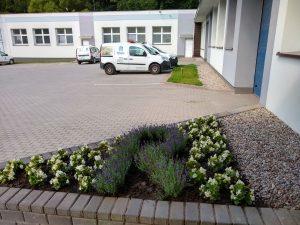wejście do siedziby firmy, baza spółki